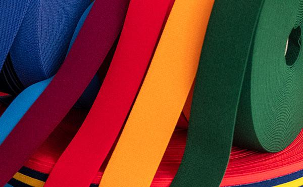 Cintas elásticas para prendas textiles
